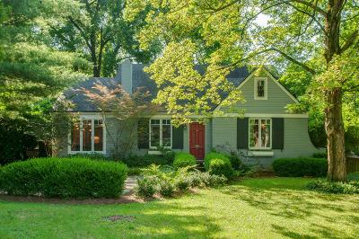 Nashville Single Family Home For Sale: 2903 Woodlawn Dr