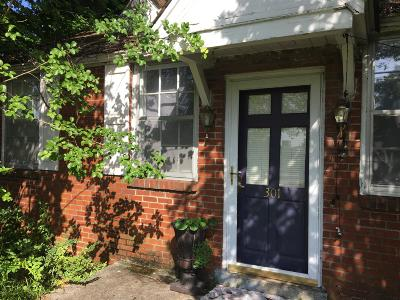 Franklin Single Family Home For Sale: 301 Franklin Rd