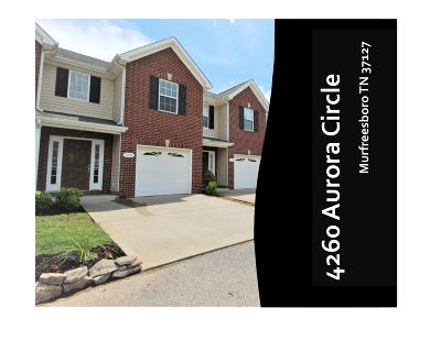 Murfreesboro Condo/Townhouse Active Under Contract: 4260 Aurora Cir