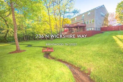 Brentwood  Single Family Home For Sale: 736 N Wickshire Way