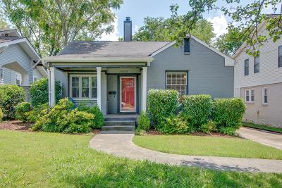 Nashville Single Family Home Active Under Contract: 2505 Sunset Pl