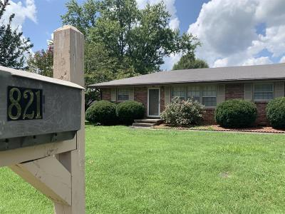 Smithville Single Family Home Active Under Contract: 821 Fairlane Cir