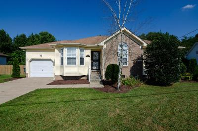 Mount Juliet Single Family Home Active Under Contract: 524 Summit Way
