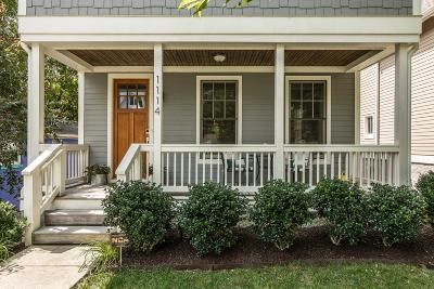 East Nashville Single Family Home For Sale: 1114 Lillian St