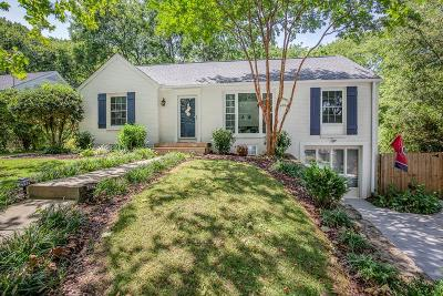 Nashville Single Family Home Active Under Contract: 3409 Woodhaven Dr