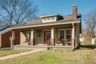 Nashville Single Family Home For Sale: 1411 Holly St