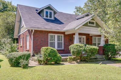 Nashville Single Family Home For Sale: 1000 W Eastland Ave