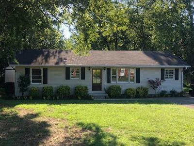 Murfreesboro Single Family Home For Sale: 1124 White Blvd
