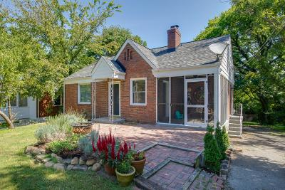 East Nashville Single Family Home Active Under Contract: 1411 Greenland Ave