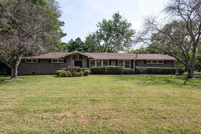 Brentwood Single Family Home For Sale: 1420 Lipscomb Dr