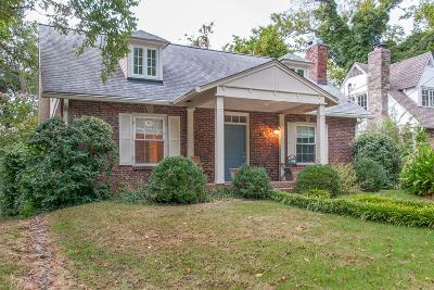 Nashville Single Family Home Active Under Contract: 2804 Westwood Ave