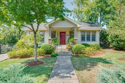 Nashville Single Family Home Active Under Contract: 209 37th Ave N