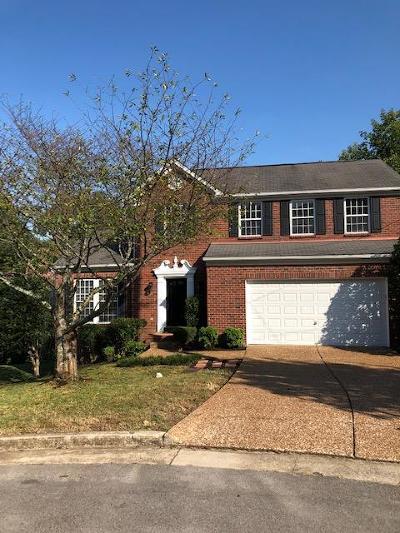 Nashville Single Family Home For Sale: 309 Splitwood Ct