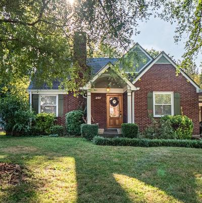 Nashville Single Family Home For Sale: 2814 Bronte Ave