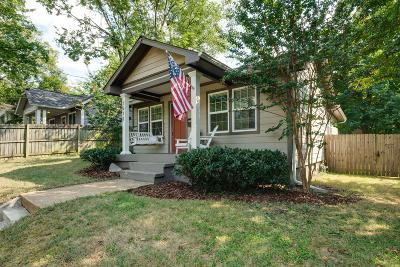Nashville Single Family Home For Sale: 1512 Shelby Ave