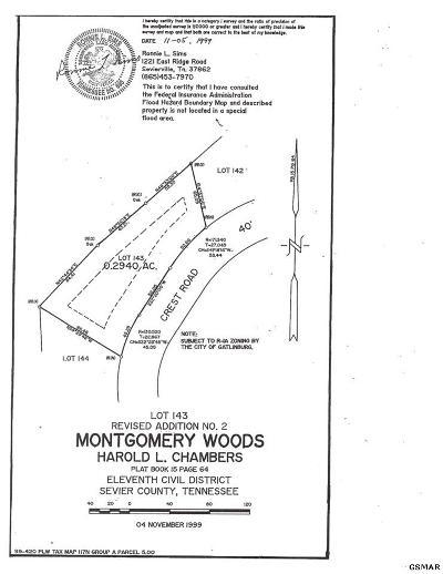 Gatlinburg Residential Lots & Land For Sale: Lot 143 Crest Road