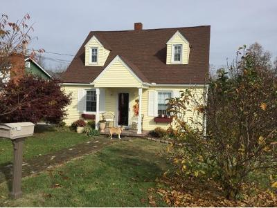 Bristol VA Single Family Home For Sale: $74,500