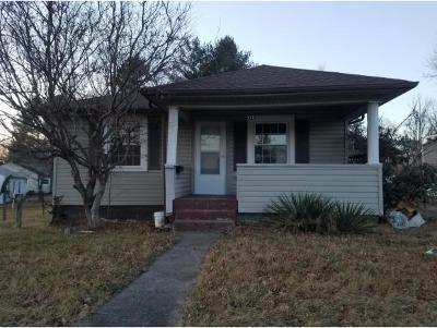 Johnson City TN Single Family Home For Sale: $57,000