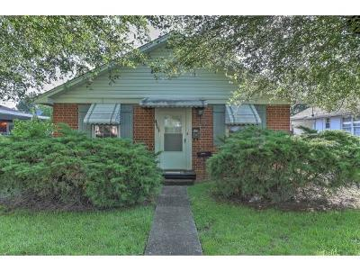 Kingsport TN Single Family Home For Sale: $88,500