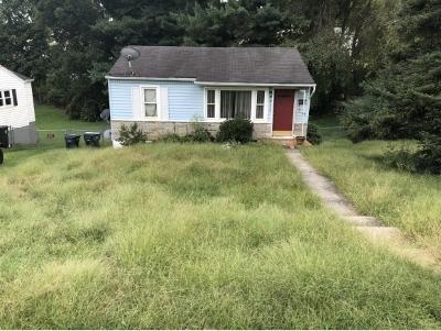 Bristol VA Single Family Home For Sale: $38,900