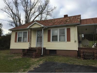Greeneville TN Single Family Home For Sale: $70,000