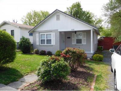 Kingsport TN Single Family Home For Sale: $55,000