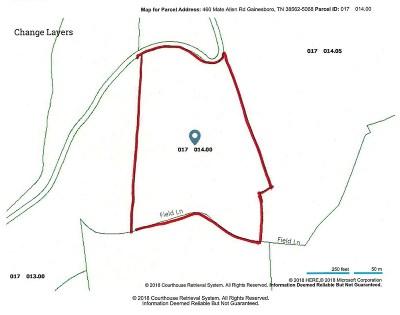 Gainesboro Single Family Home For Sale: 460 Mate Allen Road