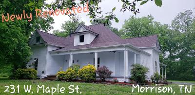 Morrison TN Single Family Home For Sale: $290,000