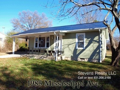 Cookeville Single Family Home For Sale: 1985 1985 Mississippi
