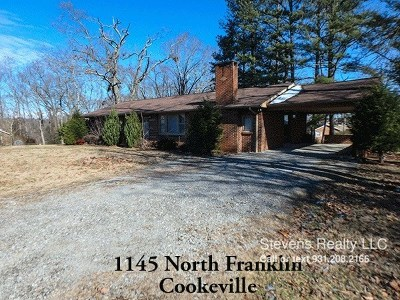 Cookeville Single Family Home For Sale: 1145 N Franklin