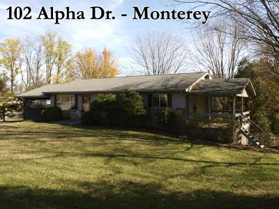Monterey TN Single Family Home For Sale: $899