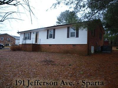 Sparta Single Family Home For Sale: 191 Jefferson Avenue