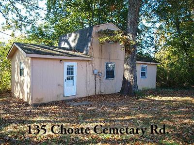 Cookeville Single Family Home For Sale: 315 Choate Cemetary Rd