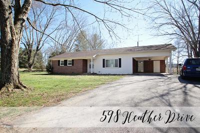 Sparta Single Family Home For Sale: 598 Heather Drive