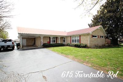 Sparta Single Family Home For Sale: 615 Turntable Road