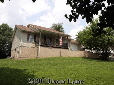 Cookeville Single Family Home For Sale: 2420 Dixson Ln