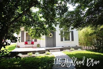 Sparta Single Family Home For Sale: 116 Highland Drive