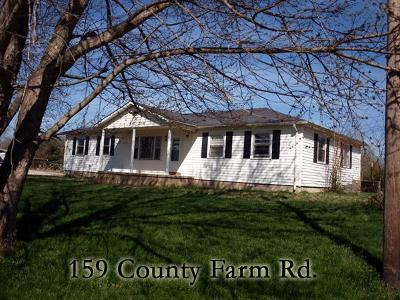 Cookeville Single Family Home For Sale: 159 County Farm Rd