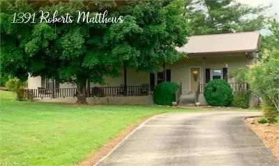 Sparta Single Family Home For Sale: 1391 Roberts Matthews