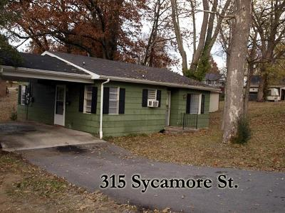 Cookeville Single Family Home For Sale: 315 Sycamore St.