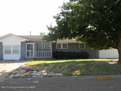 Fritch Single Family Home For Sale: 205 Holmes S Ave
