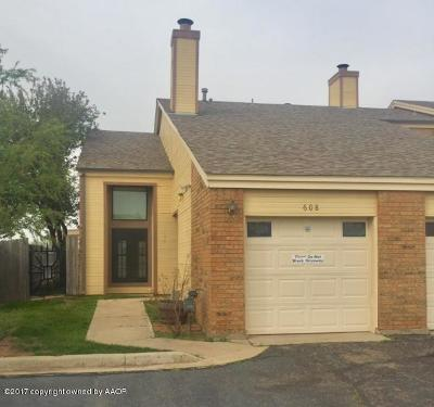 Amarillo Condo/Townhouse For Sale: 1801 Steeplechase #608