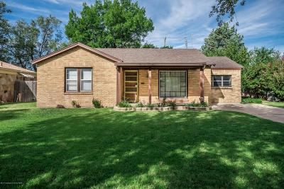 Amarillo Single Family Home For Sale: 1226 Bryan St