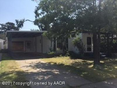 Perryton TX Single Family Home For Sale: $125,000
