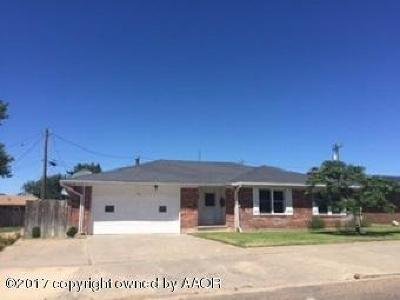 Perryton TX Single Family Home For Sale: $168,000