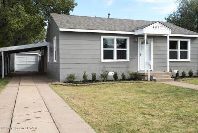 Amarillo Single Family Home For Sale: 4613 Crockett St