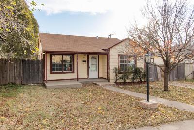 Amarillo Single Family Home For Sale: 1613 Palo Duro St