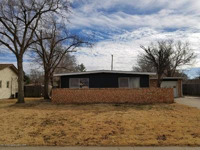 Amarillo TX Single Family Home For Sale: $108,000