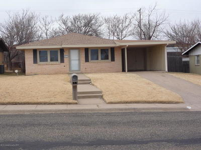 Borger Single Family Home For Sale: 611 Missouri St