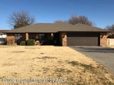 Borger Single Family Home For Sale: 205 Cimarron St